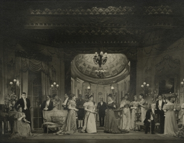 Production photograph, An Ideal Husband (1947) by Desmond Tripp. Image courtesy of University of Bristol Theatre Collection.