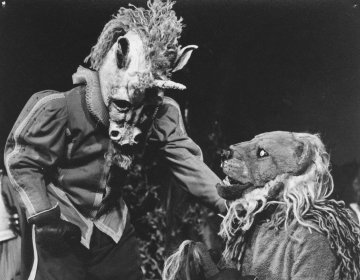 Production photograph, Alice Through The Looking Glass (1968) by Derek Balmer. Image courtesy of University of Bristol Theatre Collection.